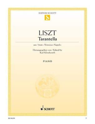 Tarantella LISZT Partition Piano - laflutedepan