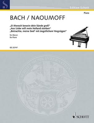 Transcriptions Pour Piano BACH / NAOUMOFF Partition laflutedepan