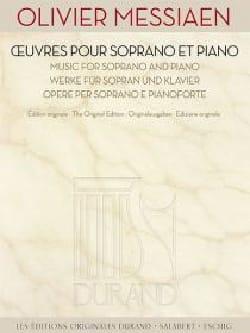 Oeuvres pour soprano et piano MESSIAEN Partition laflutedepan