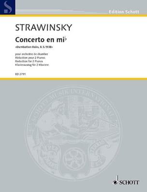 Igor Stravinski - Concerto Dumbarton Oaks In E Flat Major - Partition - di-arezzo.com