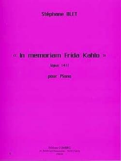 In Memoriam Frida Kahlo Opus 141 Stéphane Blet Partition laflutedepan