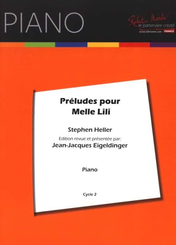 Préludes Pour Melle Lili Opus 119 - Stephen Heller - laflutedepan.com