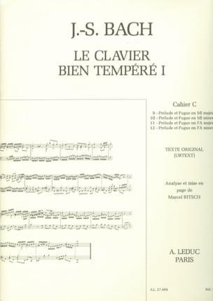 Le Clavier Bien Tempéré - Livre 1 Cahier C BACH / BITSCH laflutedepan