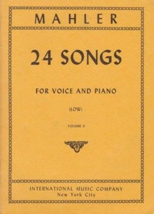 24 Songs Volume 2. Voix Grave MAHLER Partition Mélodies - laflutedepan