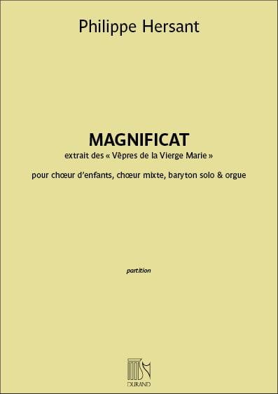 Magnificat - Philippe Hersant - Partition - Chœur - laflutedepan.com