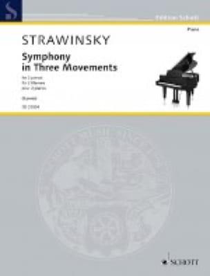 Symphony in Three Movements. 2 pianos - STRAVINSKY - laflutedepan.com