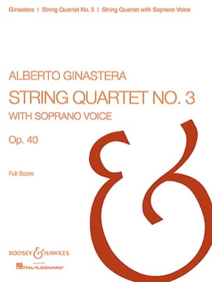 String Quartet n° 3 op. 30 GINASTERA Partition laflutedepan