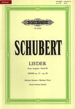 Lieder Volume 3 - Voix Moyenne - Fischer-Dieskau SCHUBERT laflutedepan