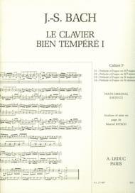 Le Clavier Bien Tempéré - Livre 1 Cahier F BACH / BITSCH laflutedepan