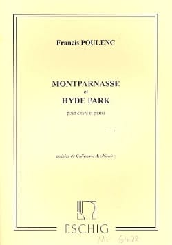 Montparnasse / Hyde Park. POULENC Partition Mélodies - laflutedepan
