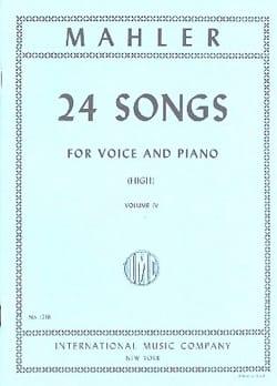 24 Songs Volume 4. Voix Haute MAHLER Partition Mélodies - laflutedepan