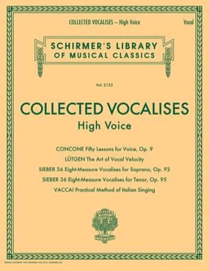 Collected Vocalises. Voix haute Livre Pédagogie - laflutedepan