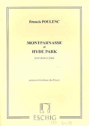 Montparnasse / Hyde Park. - POULENC - Partition - laflutedepan.com