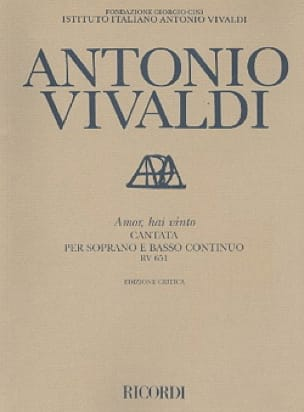 Amor Hai Vinto RV 651 - VIVALDI - Partition - laflutedepan.com