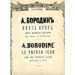 Air du Prince Igor BORODINE Partition Opéras - laflutedepan