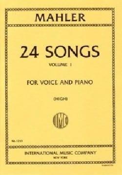 24 Songs Volume 1 Voix Haute MAHLER Partition Mélodies - laflutedepan