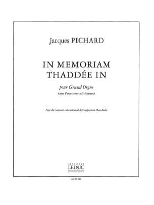 In Memoriam Thaddée In Jacques Pichard Partition Orgue - laflutedepan