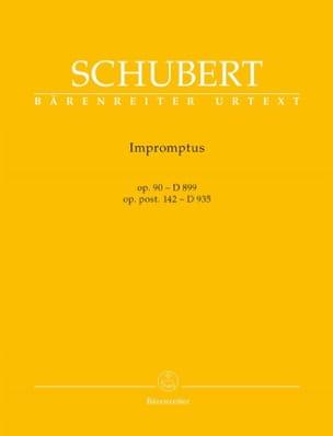Impromptus Opus 90 D 899, Opus Post. 142 D 935 SCHUBERT laflutedepan