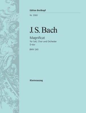 Magnificat En Ré majeur BWV 243 BACH Partition Chœur - laflutedepan