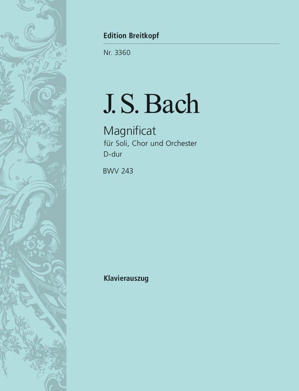 Magnificat En Ré majeur BWV 243 - BACH - Partition - laflutedepan.com