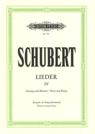 Lieder Volume 4 - Ton Original - SCHUBERT - laflutedepan.com