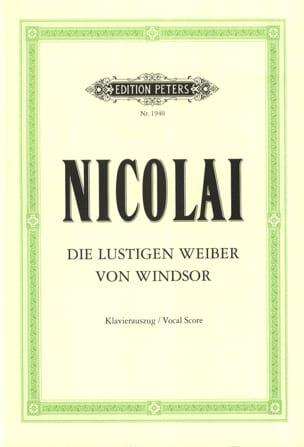 Die Lustigen Weiber Von Windsor Otto Nicolai Partition laflutedepan