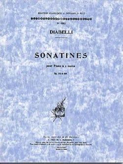 Sonatines Opus 151 et 168 DIABELLI Partition Piano - laflutedepan