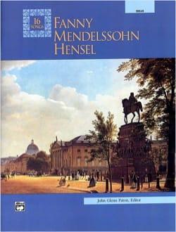 16 Songs. Voix Haute Fanny Hensel-Mendelssohn Partition laflutedepan