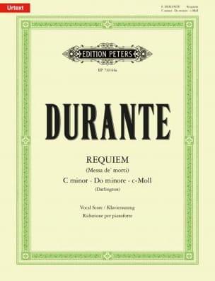 Requiem en Do mineur Francesco Durante Partition Chœur - laflutedepan