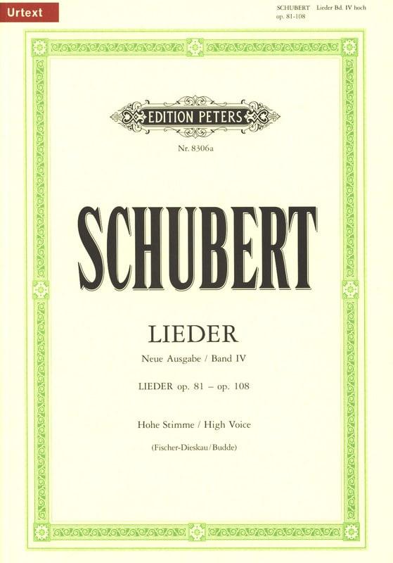 Lieder Volume 4 - Voix Haute - Fischer-Dieskau - laflutedepan.com