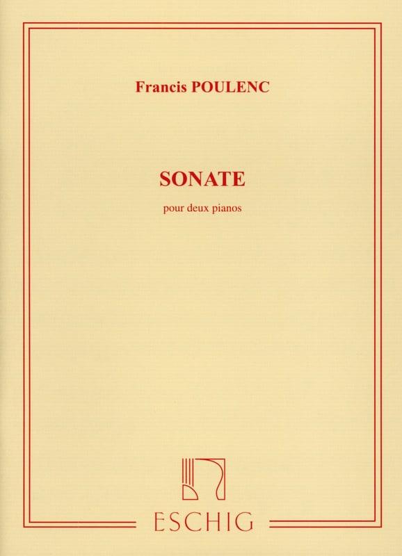Sonate Pour 2 Pianos - POULENC - Partition - Piano - laflutedepan.com