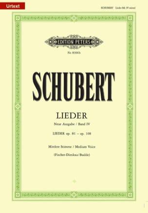 Lieder Volume 4 - Voix Moyenne - Fischer-Dieskau SCHUBERT laflutedepan