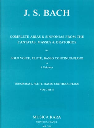 Complete arias and sinfonias from the cantatas, masses, oratorios Volume 8 laflutedepan