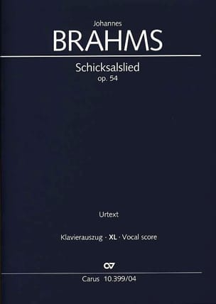 Johannes Brahms - Schicksalslied Opus 54 Grand Format - Partition - di-arezzo.fr