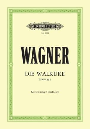Die Walküre Wwv 86b WAGNER Partition Opéras - laflutedepan