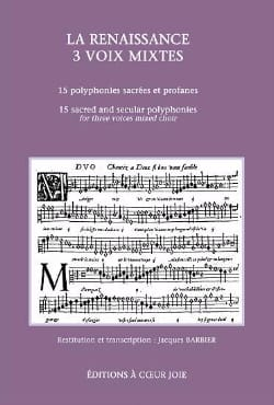 La Renaissance 3 Voix Mixtes Partition Chœur - laflutedepan