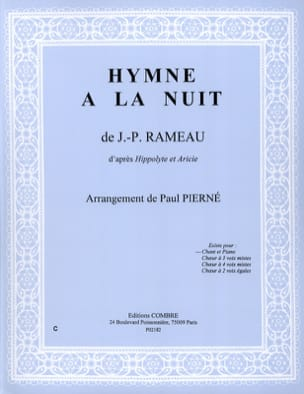 Jean-Philippe Rameau - Anthem At Night. Hippolyte and Aricie - Partition - di-arezzo.com