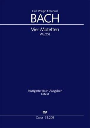 Vier Motetten Wq 208 Carl-Philipp Emanuel Bach Partition laflutedepan