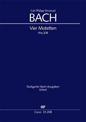 Vier Motetten Wq 208 - Carl-Philipp Emanuel Bach - laflutedepan.com