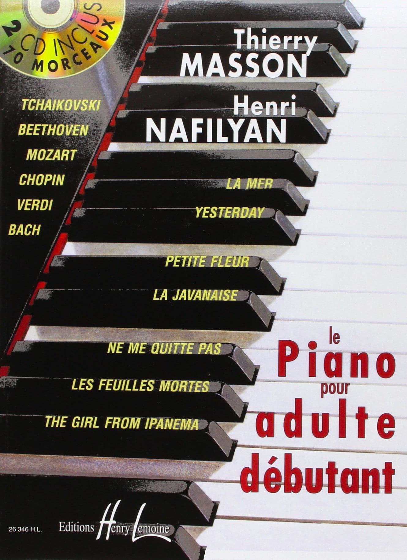Le Piano pour Adulte Débutant - MASSON - NAFILYAN - laflutedepan.com