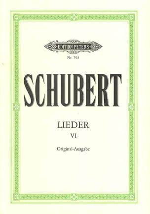 Lieder Volume 6 - Ton Original SCHUBERT Partition laflutedepan
