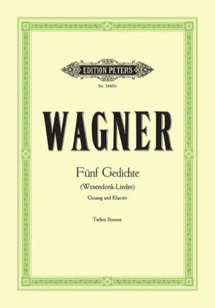 Wesendonck-Lieder. Voix Grave WAGNER Partition Mélodies - laflutedepan