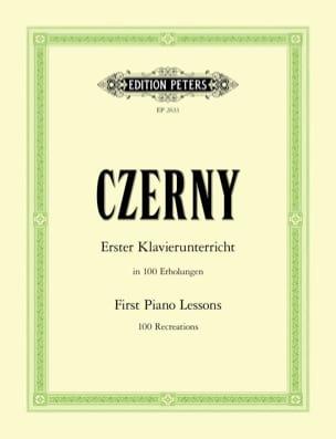 Erster Klavierunterricht CZERNY Partition Piano - laflutedepan