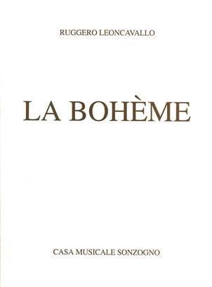 La Bohème - Ruggiero Leoncavallo - Partition - laflutedepan.com