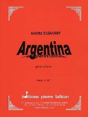 Argentina - Arletta Elsayari - Partition - Piano - laflutedepan.com