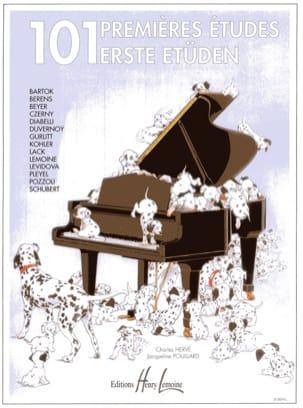 101 Premières Etudes HERVÉ - POUILLARD Partition Piano - laflutedepan