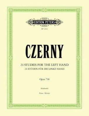 24 Etudes Pour la Main Gauche Opus 718 CZERNY Partition laflutedepan