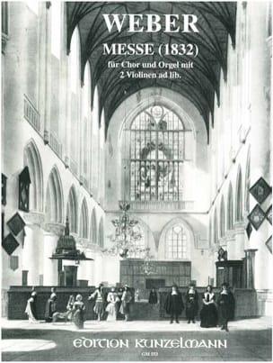 Messe - Carl Anton Weber - Partition - Chœur - laflutedepan.com