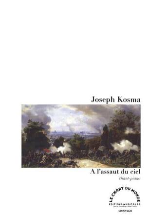 A l'assaut du ciel Joseph Kosma Partition Mélodies - laflutedepan