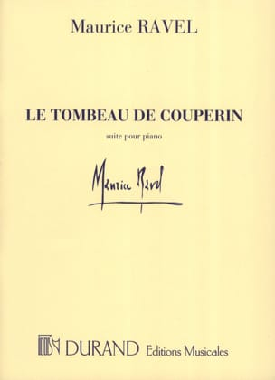 Le Tombeau de Couperin RAVEL Partition Piano - laflutedepan